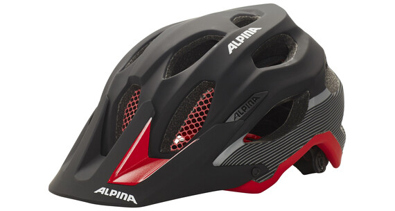 Alpina Carapax Helmet black-red-darksilver